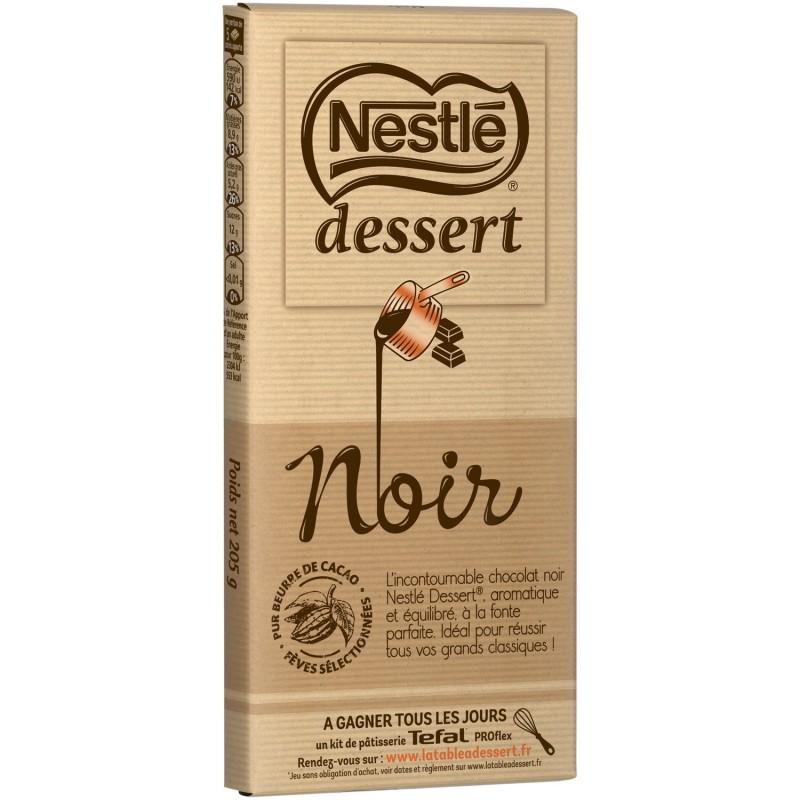 Juodasis šokoladas desertams gaminti Nestlé Dessert (205 g)
