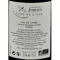 Ekologiškas raudonasis Domaine des Jumeaux vynas LE SANG DE L'YON