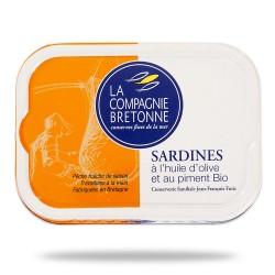 Sardinės alyvuogių aliejuje su ekologiška aitriąja paprika La Compagnie Bretonne