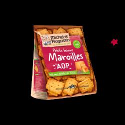 Michel et Augustin Sviestiniai aperityvo sausainiukai su Maroilles AOP sūriu ir žiupsneliu kumino