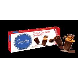 Gavottes sausainiai Crêpes Dentelles su juoduoju šokoladu