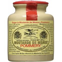 Garstyčios Moutarde de Meaux Pommery moliniame inde, vaškuotu dangteliu (250 g)