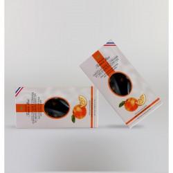 Juodasis šokoladas su apelsinais ir apelsinų žievelių konfi (80 g)