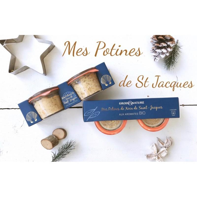 Jūrų šukutės noix de Saint-Jacques stikliniuose indeliuose – valgyti karštas ! (2 x 60 g)