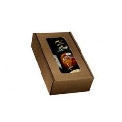 Kartoninė dėžutė dovanoms su langeliu