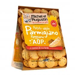 Smėlinės tešlos sūrūs sausainiai su parmezanu ir garstyčiomis