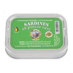 Sardinės alyvuogių aliejuje su žaliaisiais pipirais