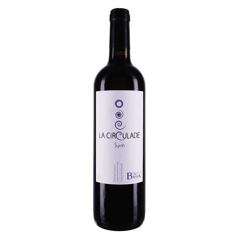 Raudonasis ekologiškas vynas LA CIRCULADE Syrah (13,5 %) (0,75 l)