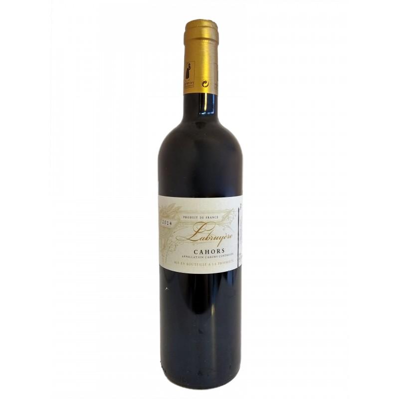 Raudonasis vynas Cuvée Labruyère su saugoma kilmės vietos Cahors nuoroda, 13,5 % (0,75 l)