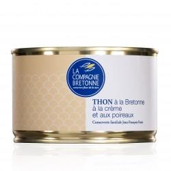 Bretoniškas tunas su grietinėle ir porais