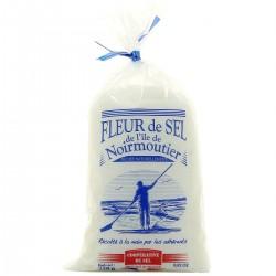 Natūralios jūros druskos kristalai Fleur de sel île Noirmoutier (250 g)
