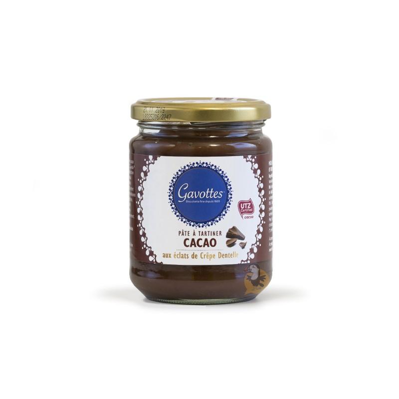 Tepamas Gavottes šokoladinis kremas Cacao su Crêpe Dentelle traškučiais
