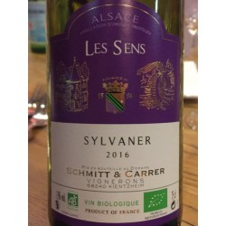 Baltasis ekologiškas sausas vynas ALSACE SYLVANER (13 %) (0,75 l)