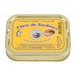 Sardinių filė kreminiame garstyčių, medaus ir grietinėlės padaže