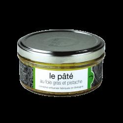 Rupusis kiaulienos paštetas su ančių kepenėlėmis foie gras ir pistacijomis