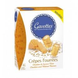 Aperityviniai sausainiai Crêpes su čederio sūrio ir graikinių riešutų įdaru