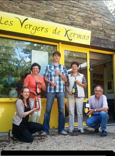 Les vergers de kermao vaismedžių sodo tradicinis bretoniškas obuolių sidras