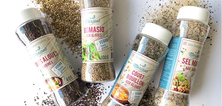 Marinoe prieskoniai ir gomasio sezamų druska su jūros dumbliais